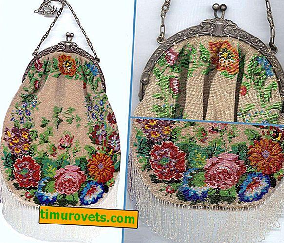 Pletene vrečke s kroglicami in kvačkanjem - z vzorci