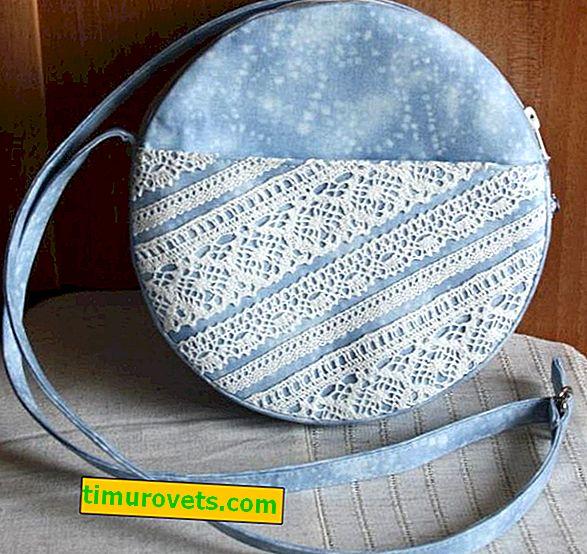 Cómo coser una bolsa redonda