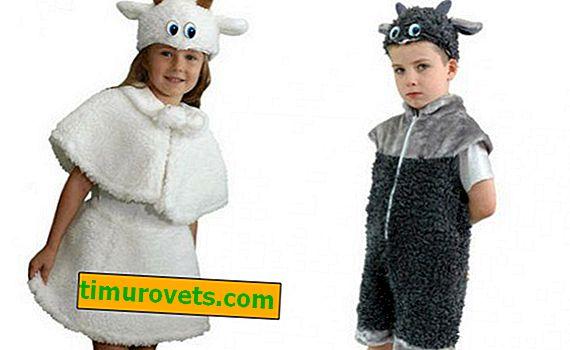 Naredite koza kostum za dekle