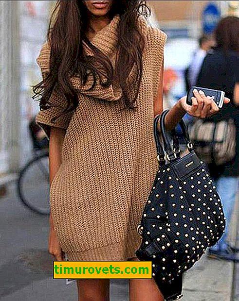 Плетете извънгабаритна рокля