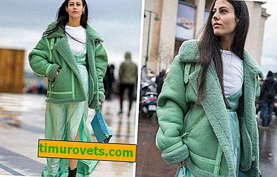 Hvordan velge en pose til en grønn saueskinnfrakk?