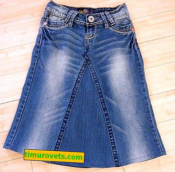 Sukňa pre domácich majstrov zo starých džínsov