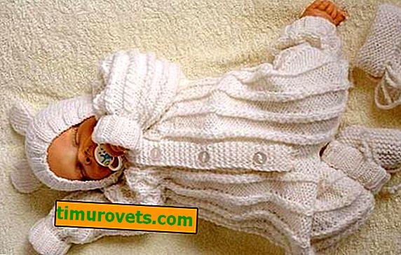 Pletací oblek pre novorodencov