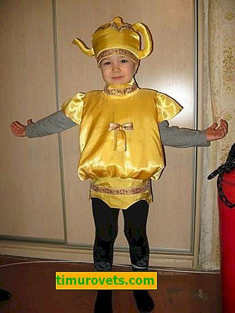 Disfraz de samovar de bricolaje para niños