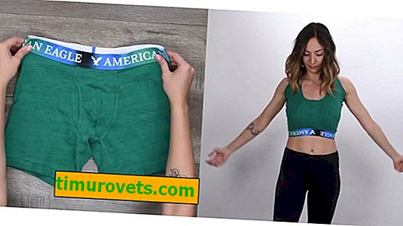 How to make a sports top from men's boxers