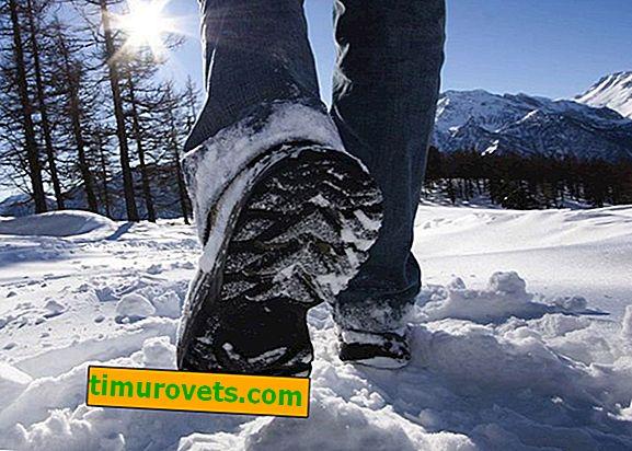 Le scarpe scivolano in inverno - cosa fare?