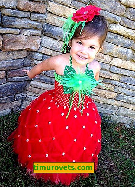 Erdbeer-Anzug zum Selbermachen für Mädchen