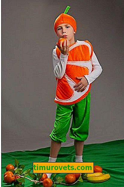DIY oranžový kostým
