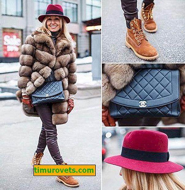¿Qué bolso usar con un abrigo de piel?