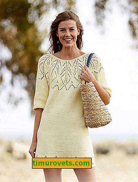 Obleka z okroglim jarmskim pletenjem