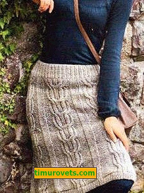 Strikket nederdel til kvinder til vinteren