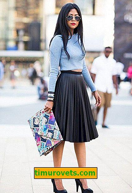 Plisseret nederdel ser ud