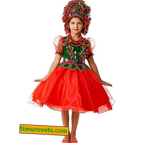 Ryabinka костюм за момиче със собствените си ръце