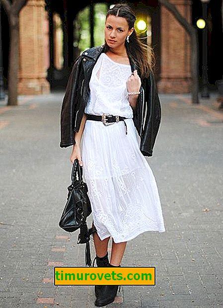 Как да носите бяла рокля