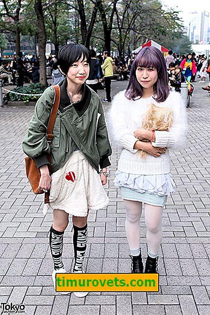 Extraña moda japonesa.  Faldas extraordinarias de mujeres japonesas