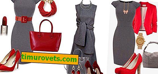 Joyas para un vestido gris