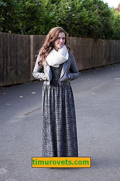 Kako nositi dugu haljinu zimi
