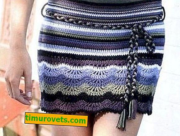 Hæklet lige nederdel
