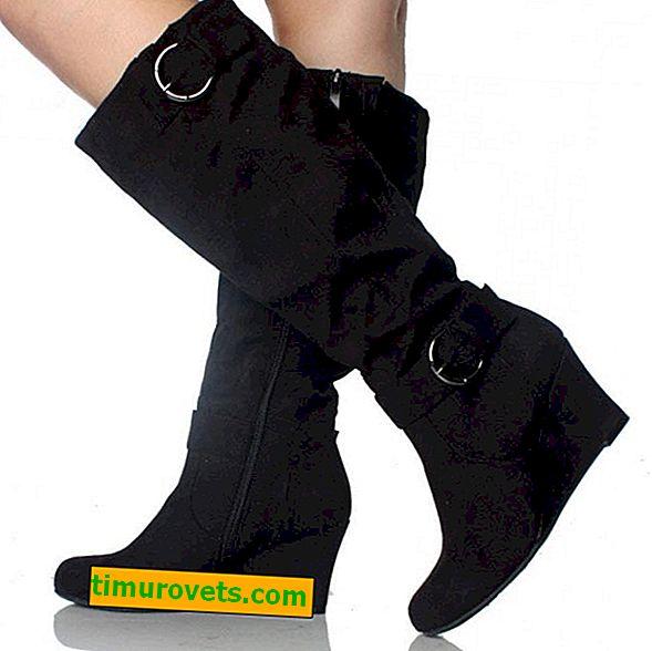 Laarzen met brede laarzen dragen