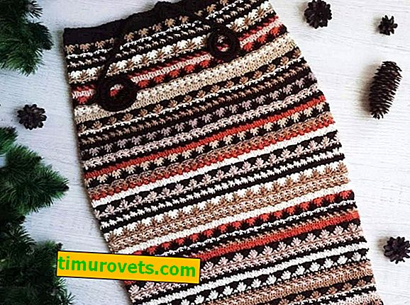 Crochet topla suknja