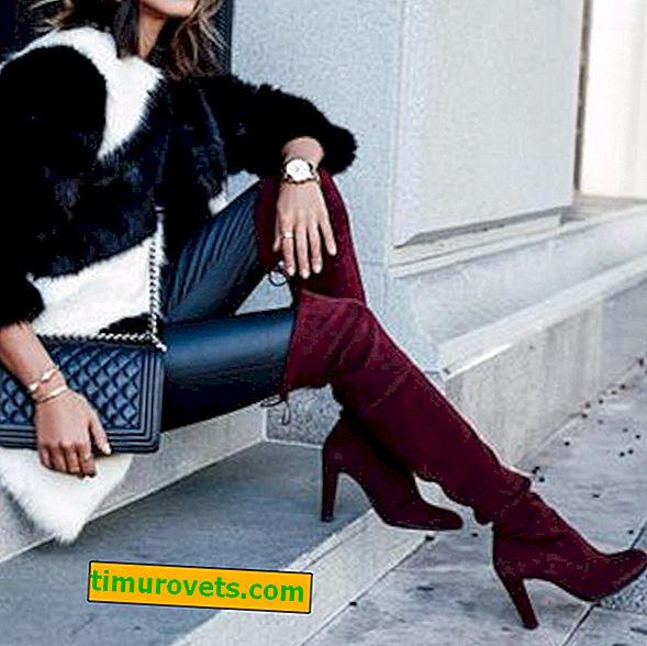 Marsala-fargede støvler med hva du skal ha på deg