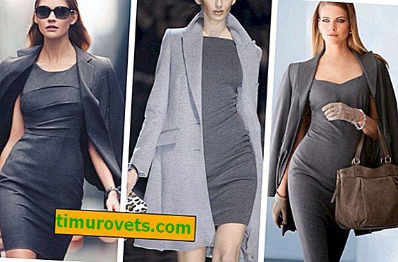 Što odjenuti sa sivom haljinom?