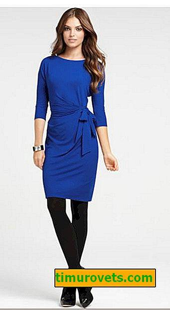 Hva strømpebukser å ha på seg under en blå kjole