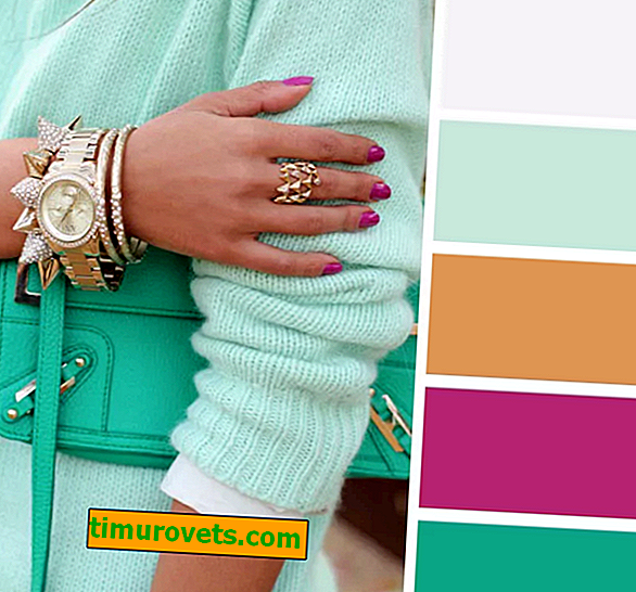 The combination of mint color in clothes