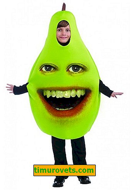 Do-it-yourself pear costume for a girl and a boy
