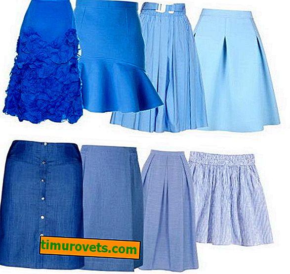 Wat te dragen met een blauwe rok