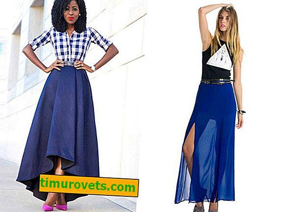 Comment porter une jupe longue bleue