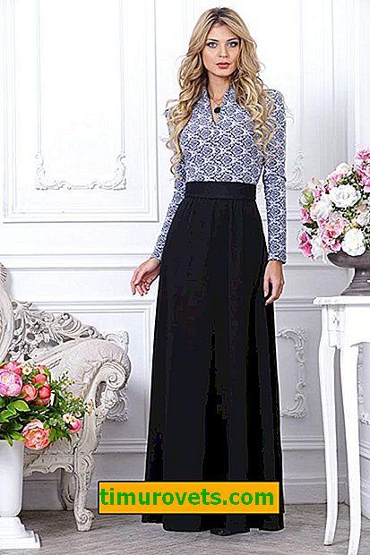 Čo blúzku nosiť s dlhou sukňou