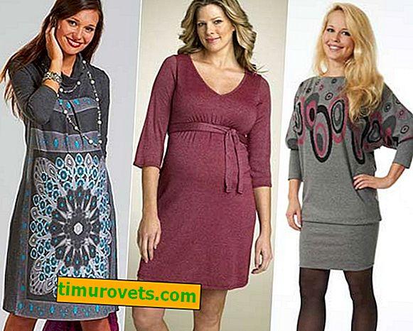Style sukienek dla kobiet w ciąży na zimę