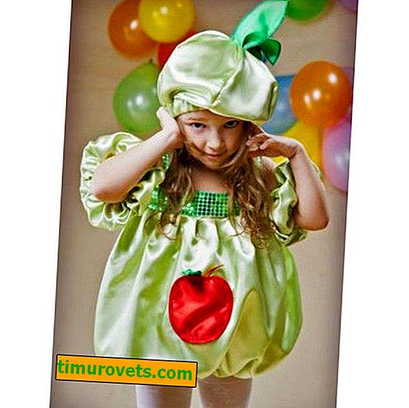 DIY æble kostum til en pige