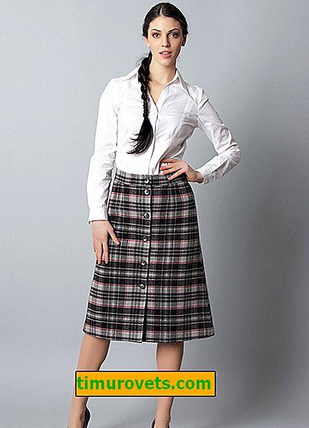 Štýl sukne pre široké boky
