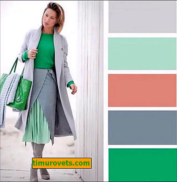 Поєднання сірого і зеленого в одязі