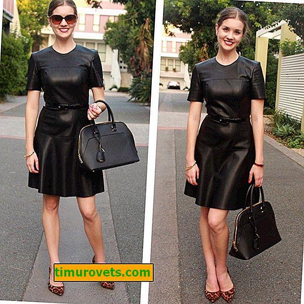 Comment porter une robe en cuir