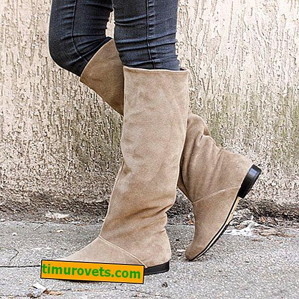 Comment porter des bottes en daim beige