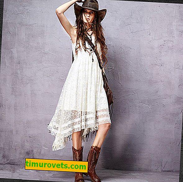 Modeller av boho-kjoler
