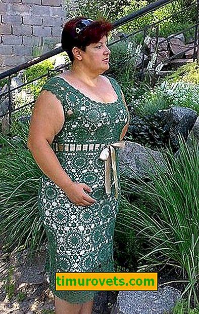 Vestido de crochet para mujeres con sobrepeso con estampados