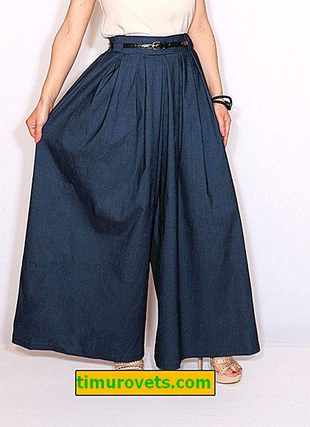 Pantalones de falda patrón