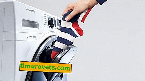 Kjer so nogavice v pralnem stroju