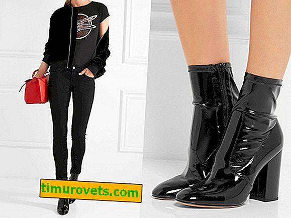 Što obući u crne čizme za gležnjeve?