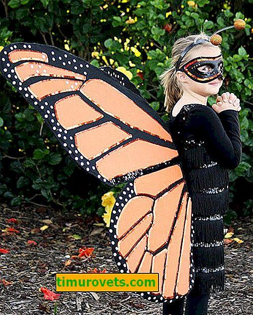 DIY sommerfugl kostyme for en jente