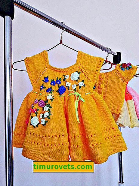 Robe pour les filles à tricoter