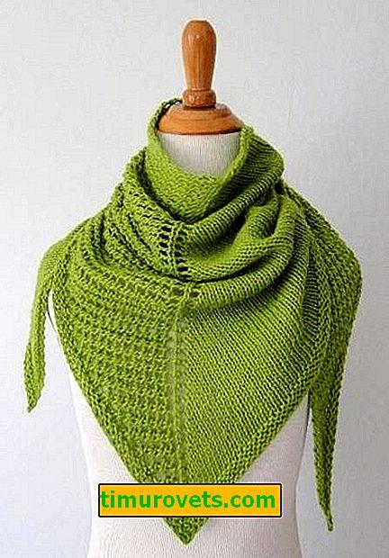 Modèle d'écharpe à tricoter à la machine