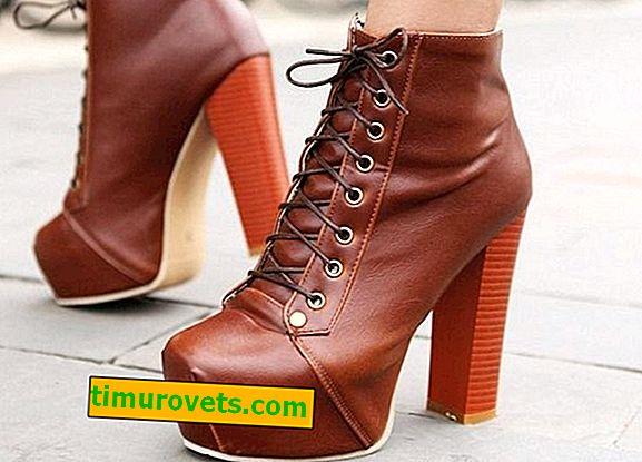 Kako nositi čipkaste škornje do gležnja?