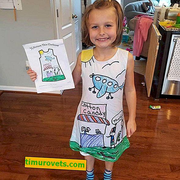 Компанията шие дрехи според рисунки, създадени от деца.