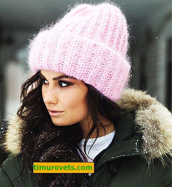 Chapeau takori avec aiguilles à tricoter en mohair