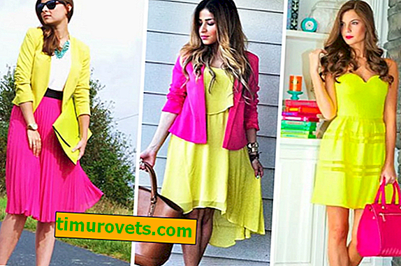 The combination of pink and yellow in clothes